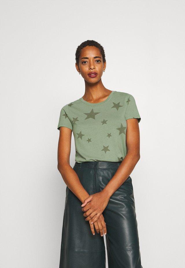 FAV CREW - Camiseta estampada - olive