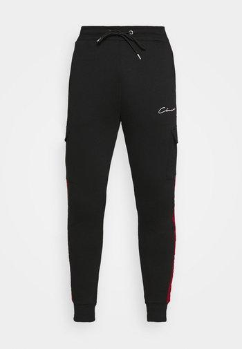 CONTRAST TAPEDUTILITY JOGGER - Pantaloni sportivi - black