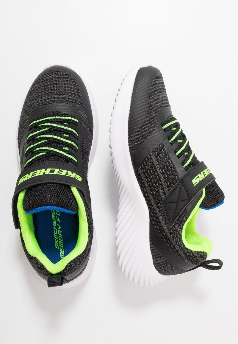 Skechers - BOUNDER - Trainers - black/blue/lime