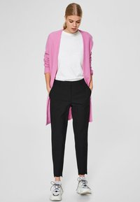 Selected Femme - MID WAIST - Trousers - black - 1