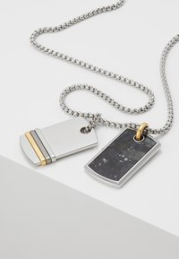 Diesel - DOUBLE DOGTAGS - Necklace - silver-coloured - 5