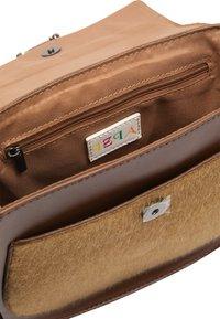 IZIA - MIT KUNSTFELL - Across body bag - camel - 4