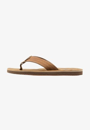 VOYAGE - T-bar sandals - brown/bronze