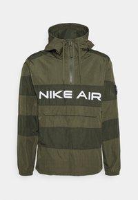 Nike Sportswear - AIR ANORAK - Windbreaker - medium olive/cargo khaki/(white) - 0