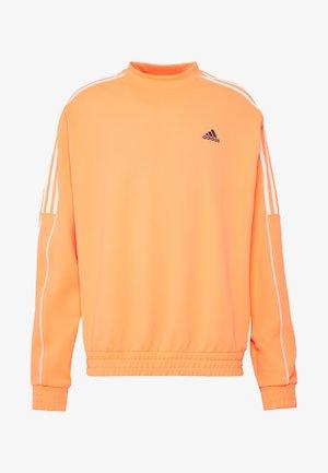 STRIPE COLLECTION DOBBY CREW - Sweatshirts - signal coral