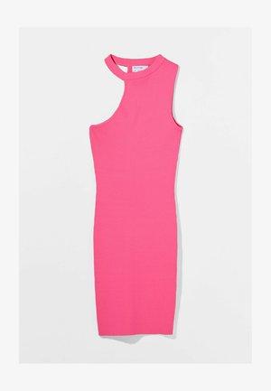 Koktejlové šaty/ šaty na párty - neon pink