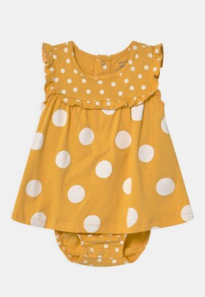 DOT - Robe en jersey - yellow