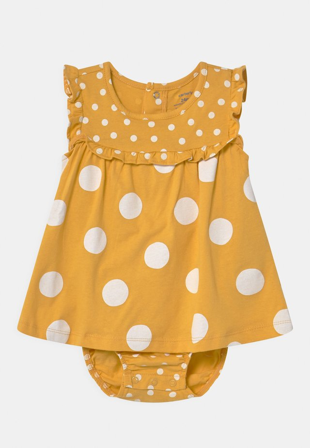 DOT - Vestito di maglina - yellow