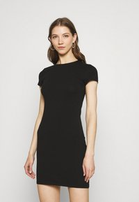 Nly by Nelly - PERFECT TEE DRESS - Jersey dress - black - 0