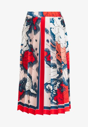 MAP PRINT PLEATED SKIRT - A-line skjørt - red/multi