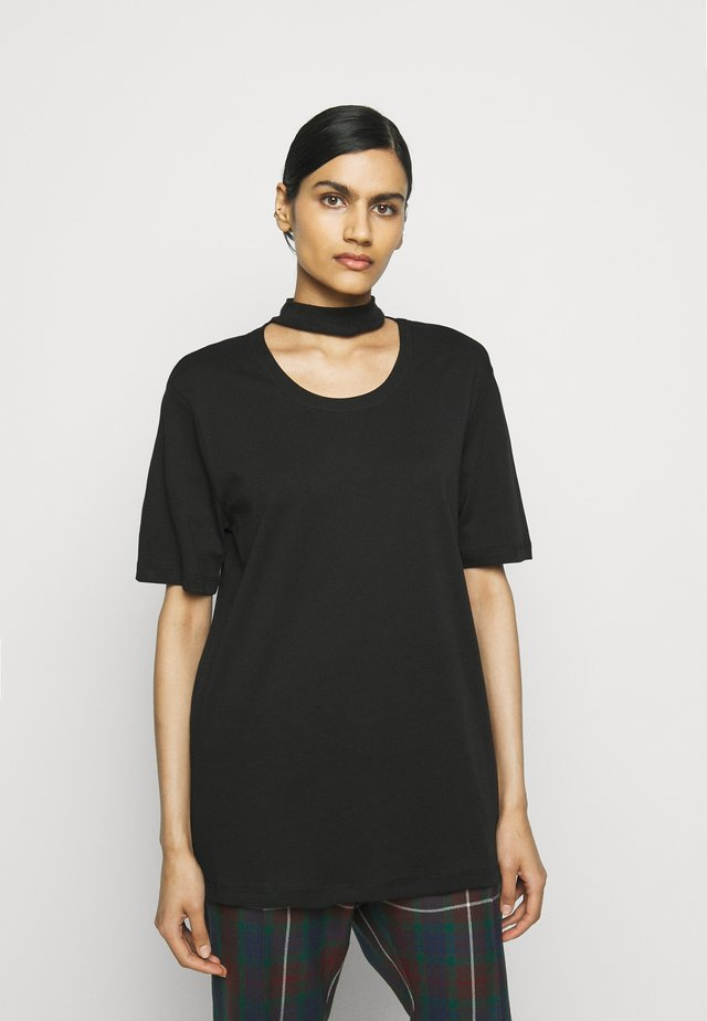 DOUBLE TOP - T-shirts med print - black
