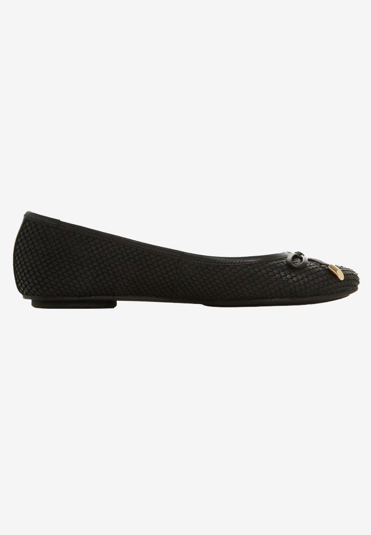 Dune London Wide Fit Wf Harpar - Ballerina Black/svart