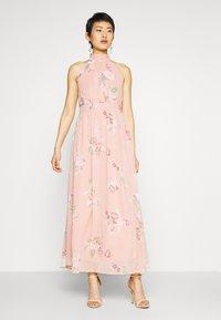 Vero Moda - VMLOVELY HALTERNECK LONG DRESS - Maxi dress - misty rose - 0
