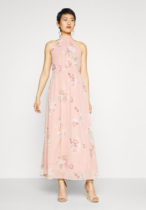 VMLOVELY HALTERNECK LONG DRESS - Maxi dress - misty rose