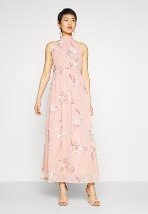 VMLOVELY HALTERNECK LONG DRESS - Vestito lungo - misty rose