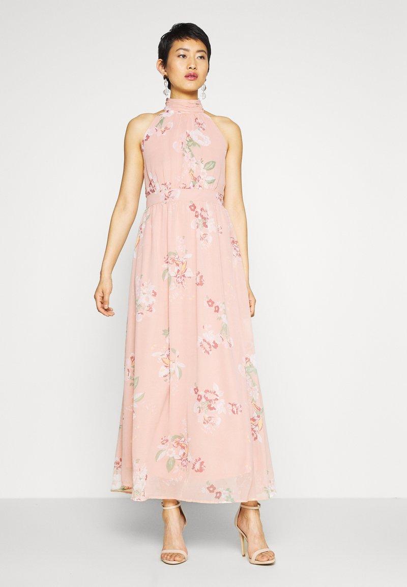 Vero Moda - VMLOVELY HALTERNECK LONG DRESS - Maxi dress - misty rose