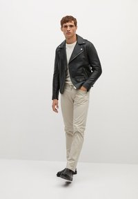Mango - PERFECT - Leather jacket - schwarz