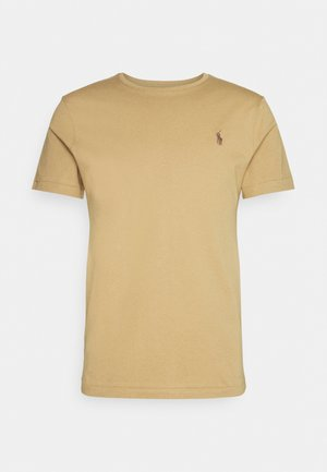 CUSTOM SLIM FIT JERSEY CREWNECK T-SHIRT - T-shirt basic - luxury tan
