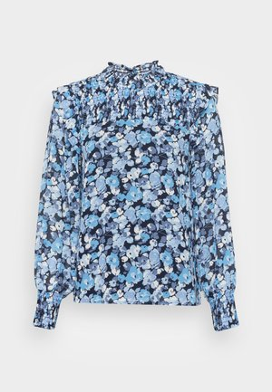 SMOCKED BLOUSE - Blouse - blue
