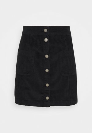 WARNING SIGN - A-line skirt - anthracite