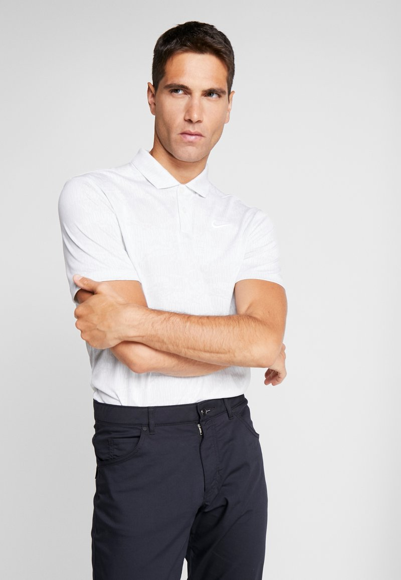 Nike Golf - DRY VAPOR CAMO - Funkční triko - pure platinum/white/white