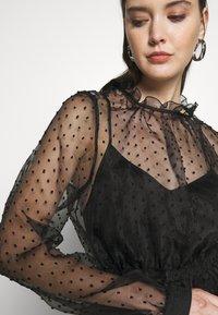 Custommade - VIRA DRESS - Koktejlové šaty/ šaty na párty - anthracite black - 5