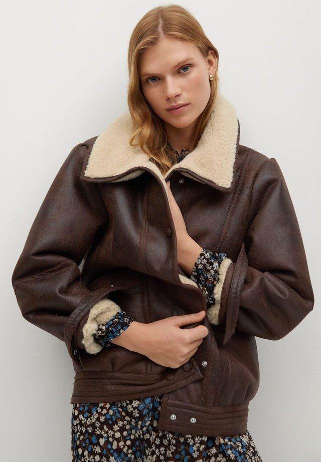 ATLANTA - Leather jacket - braun