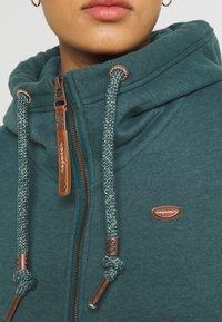 Ragwear - NESKA ZIP - Zip-up sweatshirt - dark green - 5
