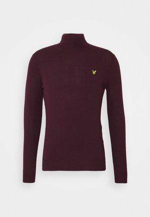 ROLL NECK JUMPER - Stickad tröja - burgundy