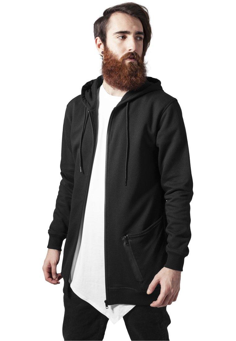 Urban Classics - Zip-up sweatshirt - black