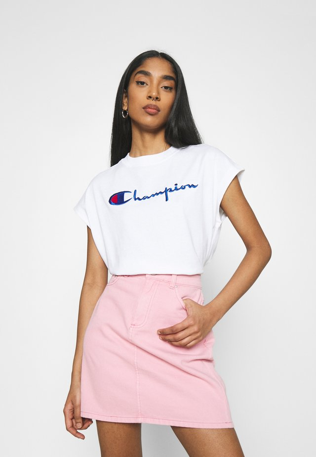 CREWNECK SLEEVELESS  - T-shirt imprimé - white
