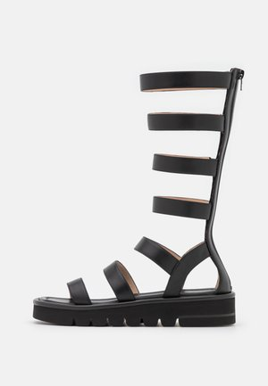 GALA LIFT TALL  - Sandály na platformě - black