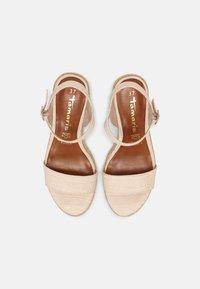 Tamaris - Wedge sandals - cream - 4