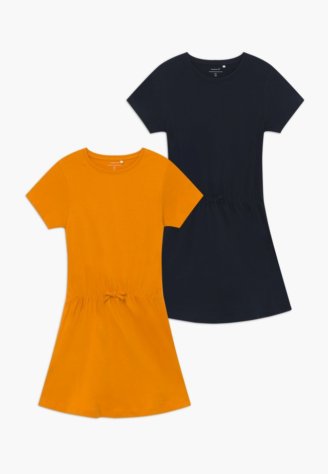 NKFVELVET 2 PACK  - Jersey dress - cadmium yellow