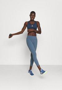 Sweaty Betty - POWER WORKOUT 7/8 LEGGINGS - Leggings - steel blue - 1