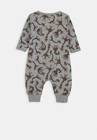 Name it - NBMNIGHTSUIT  ZIP GIRAFFE 2 PART - Pyjamas - grey melange - 1