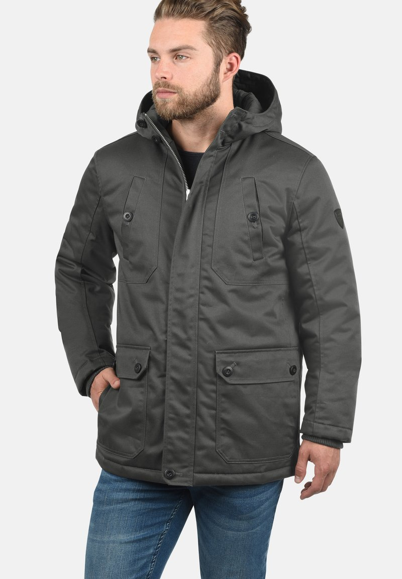 Solid - Winter jacket - dark grey