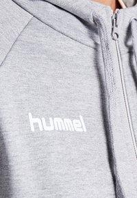 Hummel - ZIP HOODIE - Zip-up hoodie - grey melange - 5