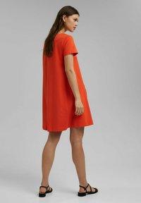 Esprit - DRESS - Jersey dress - orange red - 2