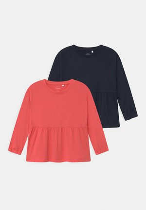NMFVALINA 2 PACK - Long sleeved top - dark sapphire