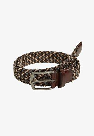 COLORS - Braided belt - marron