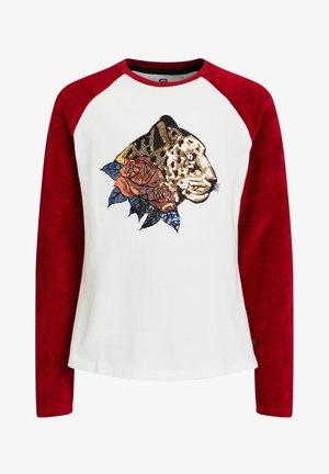 MEISJES MET PAILLETTENAPPLICATIE - T-shirt print - white