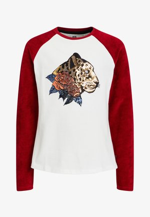 MEISJES MET PAILLETTENAPPLICATIE - T-shirts print - white