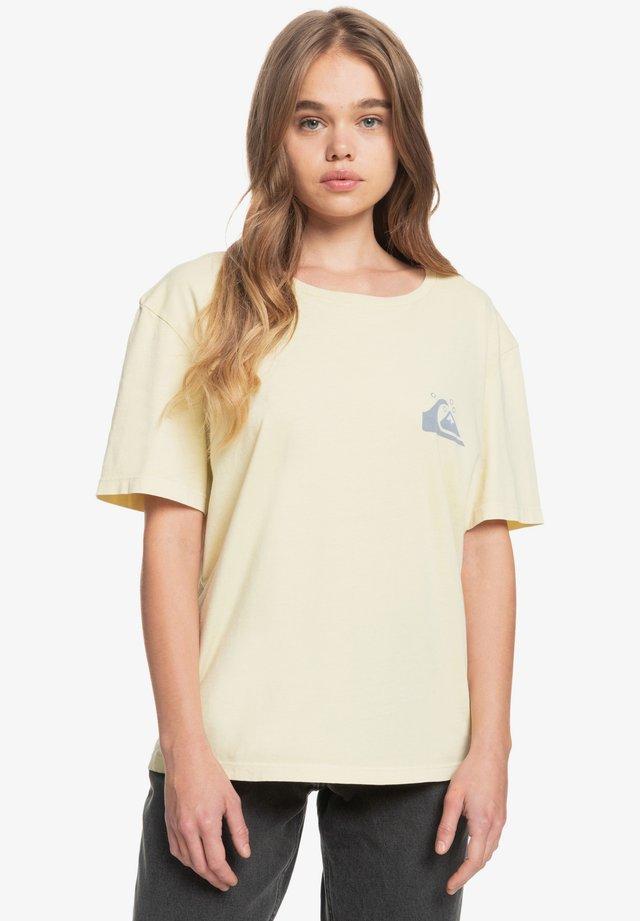 NACHHALTIGES - Print T-shirt - pastel yellow