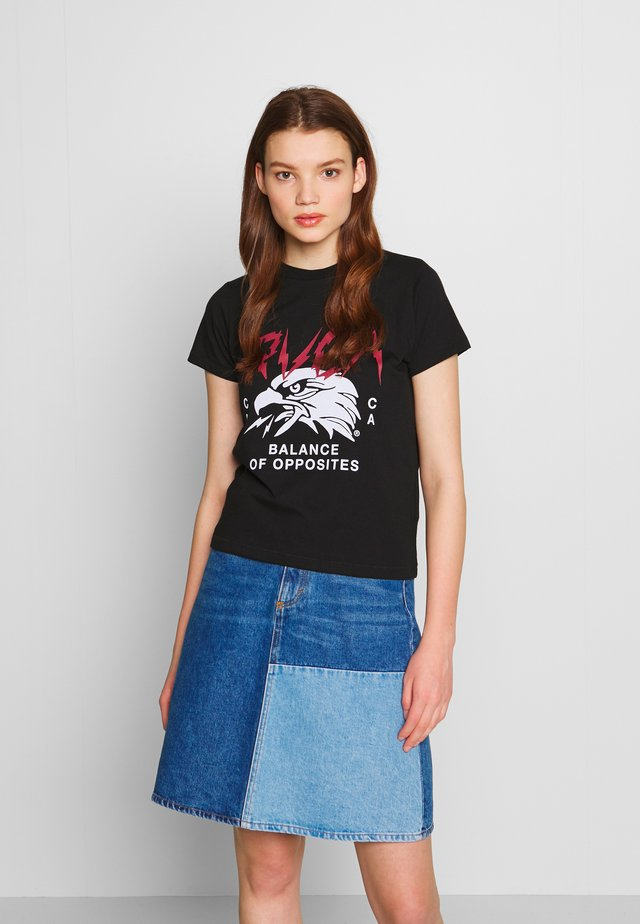 PARKER - T-shirt con stampa - black