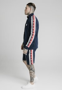 SIKSILK - RETRO FUNNEL NECK TAPEZIP THROUGH TRACK TOP - Chaqueta de punto - navy - 4