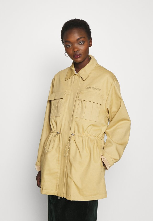 DESK JACKET - Short coat - sand heavy twill
