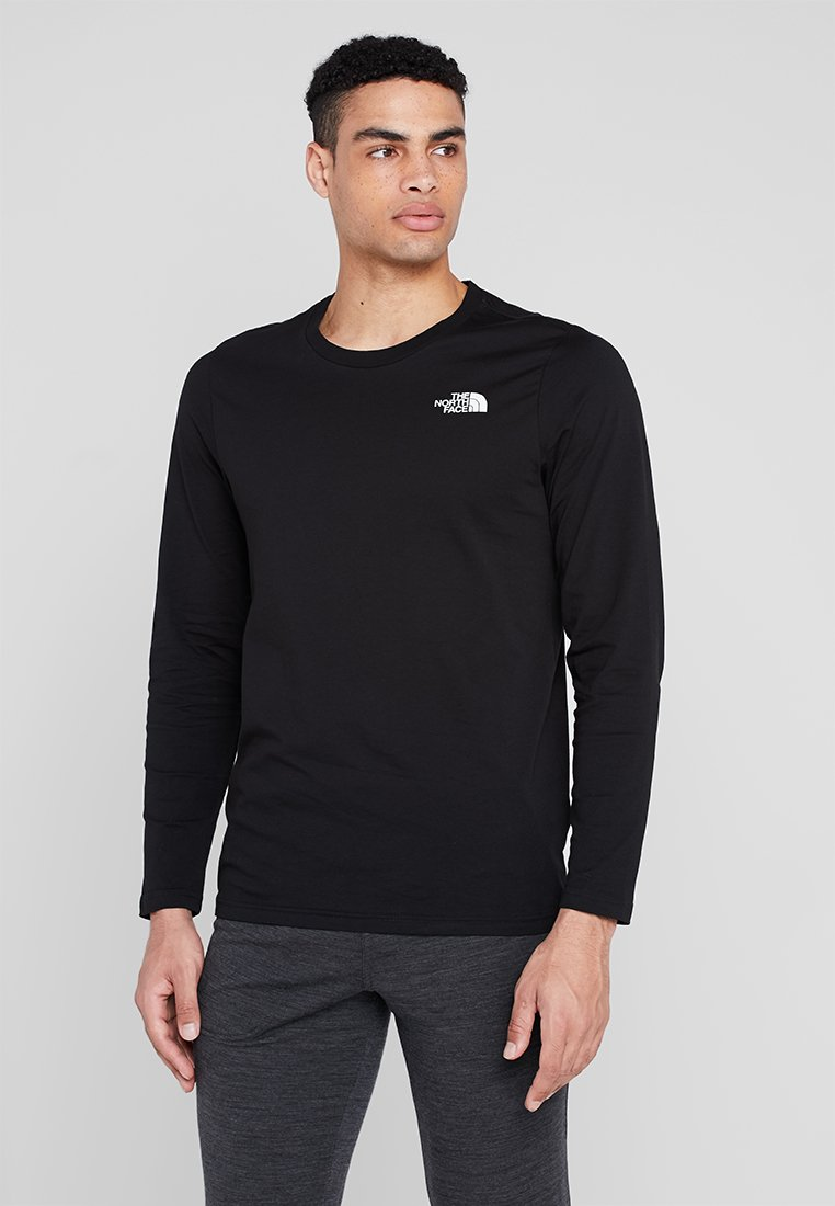 The North Face - MENS EASY TEE - Langarmshirt - black