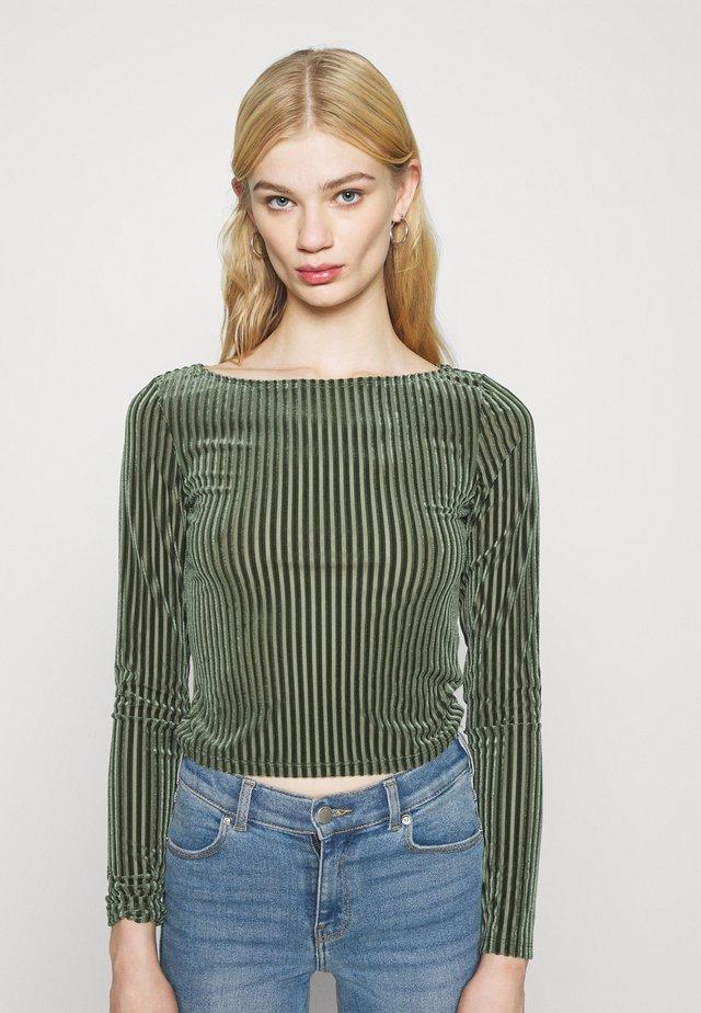 ULLE - Maglietta a manica lunga - khaki green