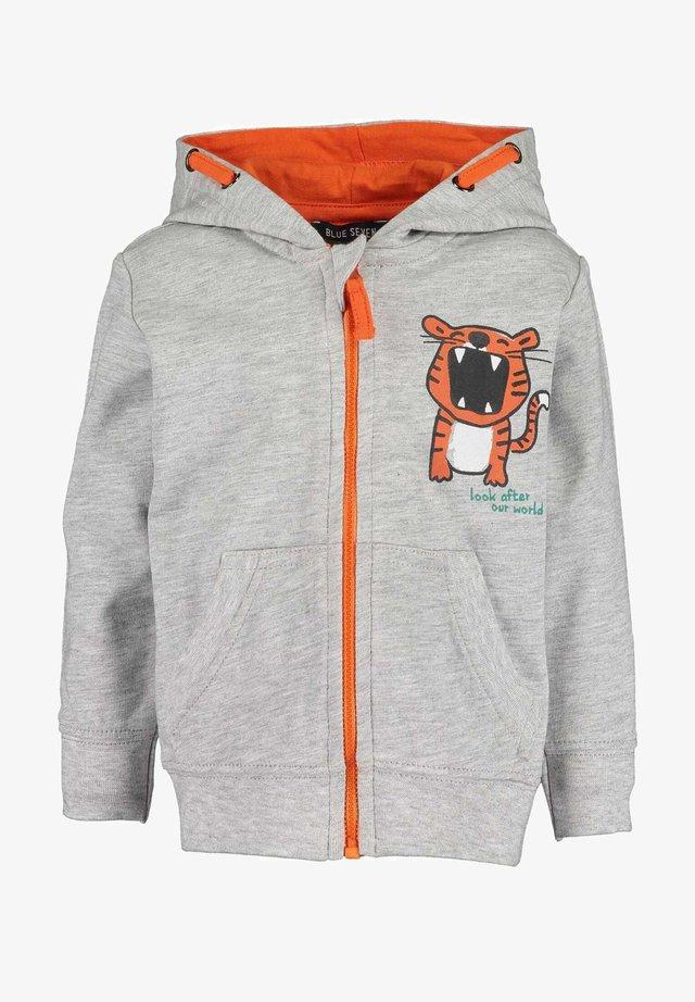 KEEP US WILD - Sweater met rits -  nebel